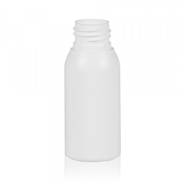 50 ml Flasche Basic Round HDPE weiß 24.410