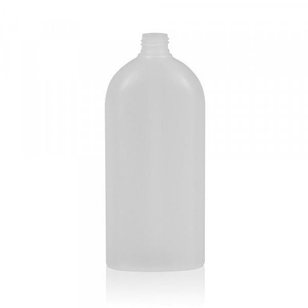 500 ml Flasche Basic Oval HDPE natur 24.410