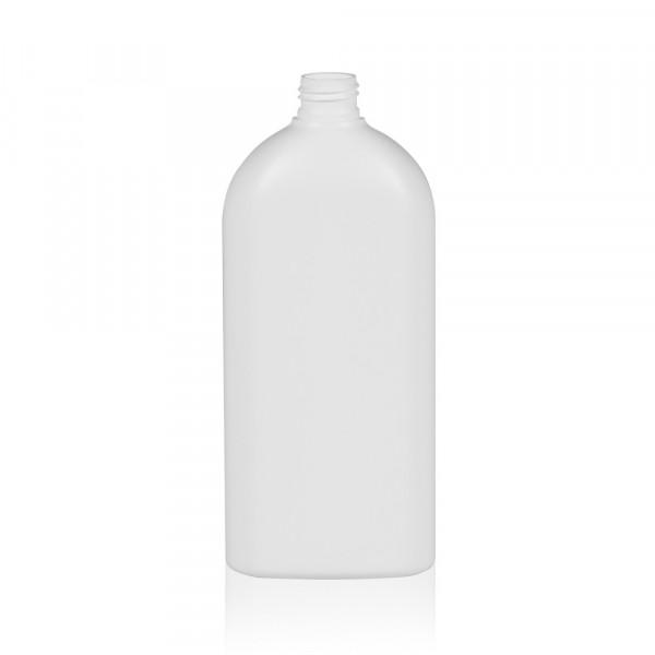500 ml Flasche Basic Oval HDPE weiß 24.410