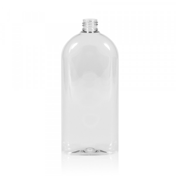 500 ml Flasche Basic Oval PET transparent 24.410