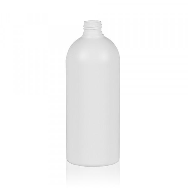 500 ml Flasche Basic Round HDPE weiß 24.410