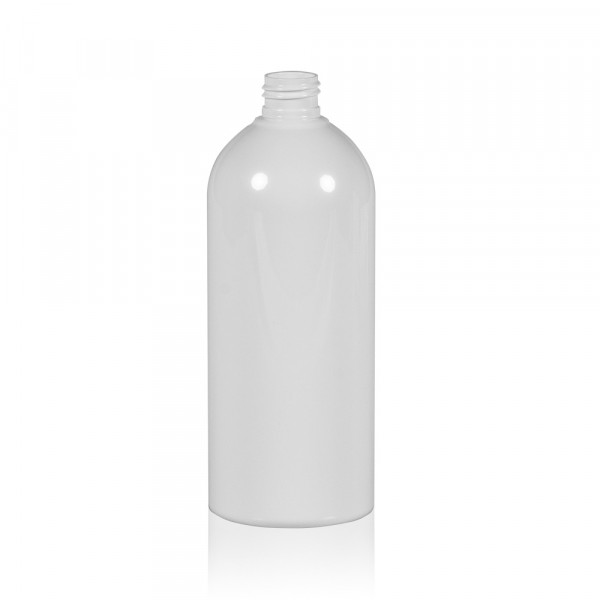 500 ml Flasche Basic Round PET weiß 24.410
