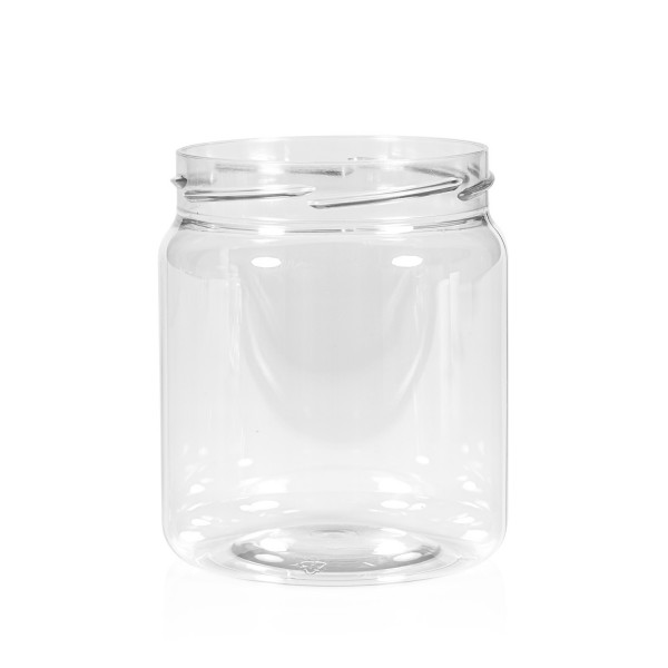 500 ml Clear cylinder PET transparent