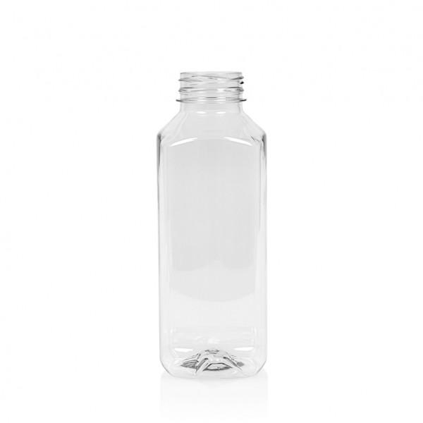 500 ml Saftflasche Juice Square PET transparent