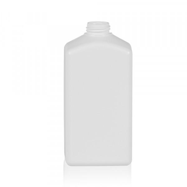 500 ml Flasche Standard Square Rilled HDPE weiß 28.410