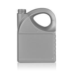 5000 ml Flasche Oil HDPE silber