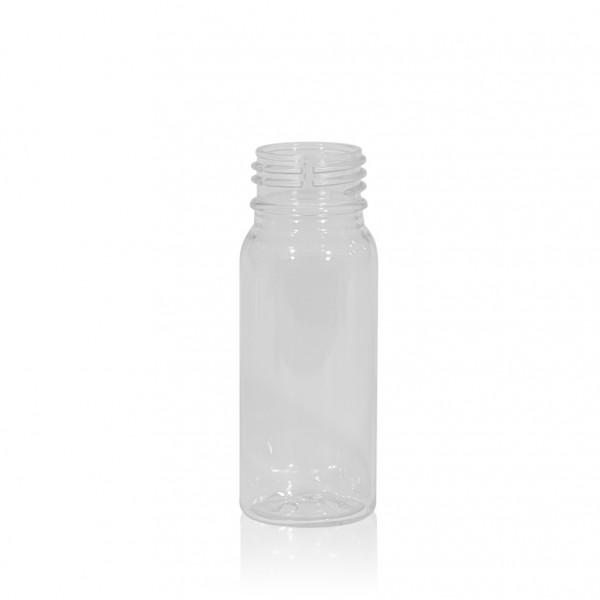 50 ml Saftflasche Juice mini shot PET transparent 28PCO