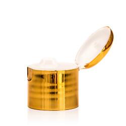 Klappdeckelverschluss PP gold/natur 24.410
