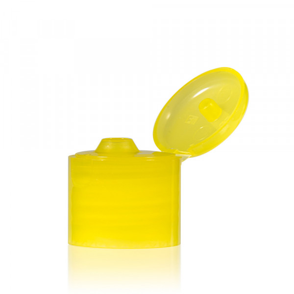 Klappdeckelverschluss PP gelb 24.410