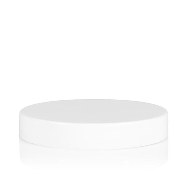 Schraubdeckel transparent cylinder 70 mm weiß