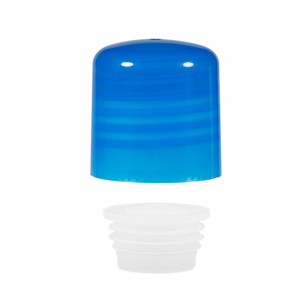 Schraubverschluss + Spritzer PP blau 24.410