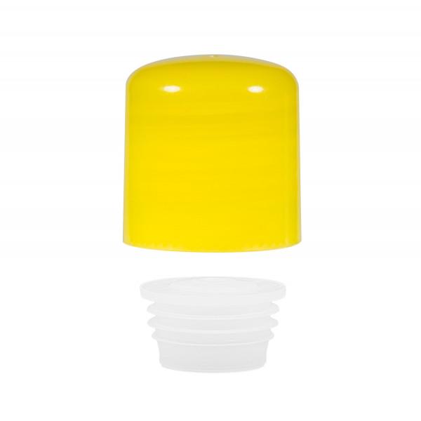 Schraubverschluss + Spritzer PP gelb 24.410