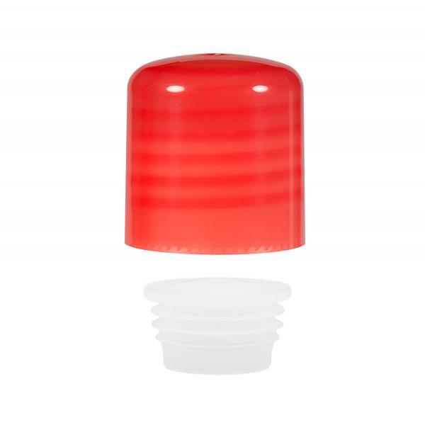 Schraubverschluss + Spritzer PP rot 24.410